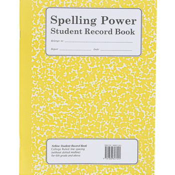Spelling Power Yellow Student Record Book