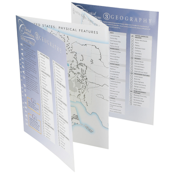 Classical Conversations, Trivium Tables Cycle 3 Geography Laminated Guide, 5th Ed, Grades 2-12