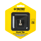 Tooletries, Arnold Reusable Hook, Silicone, Charcoal, 2 3/4 x 2 3/4 inches