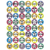 Eureka, Success Circles Sparkle Stickers, Multi-Colored, Pack of 96