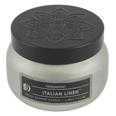 D&D, Italian Linen Scented Candle in Tin, White, 3.98 ounces