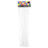 Tree House Studio, Chenille Stems, 12 x 1/4 Inches, White, 50 Count
