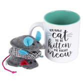 Open Road Brands, You Have Cat To Be Kitten Me Right Meow Coffee Mug & Cat Toy Gift Set, 4 Pieces