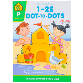 School Zone, 1-25 Dot-to-Dots Deluxe Edition, Paperback, 64 Pages, Preschool Ages 3-5
