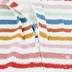 Whistling Willow, Striped Zip-Front Long Sleeve Footed Sleeper, 3-6 Months