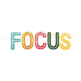 Color Me Brilliant Collection, Focus Word Banner, Multi-Colored, 12 Inch Letters