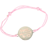Soul Anchor, Philippians 4:13 Pink Cords of Faith Bracelet, 7 1/2 inches