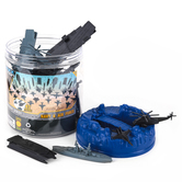 Sunny Days, Maxx Action Navy & Airforce Playset Bucket, 47 Pieces, Ages 3 to 9