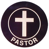 Swanson, Pastor Window Cling, 3 inches