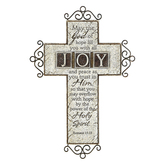 Romans 15:13 May The God Of Hope Wall Cross, Resin, 12 x 8 1/4 x 1/2 inches
