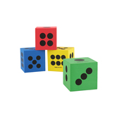 Fun Express, Foam Jumbo Playing Dice, 2.5 Inches, Assorted Colors, 1 Each, Ages 3 and up
