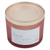 Winfield Home Decor, Refresh Frosted Glass Jar Candle, Coral, 10 ounces, 4 1/4 x 3 1/2 inches