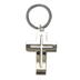 Dicksons, Hope Cross Key Ring, Metal, Silver, 1 7/8 x 1 1/4 x 5/8 inches