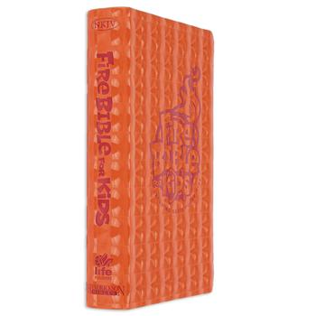NKJV Fire Bible for Kids, Imitation Leather, Orange