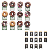 Schoolgirl Style, Industrial Cafe Birthday Bulletin Board Set, Multi-Colored, 44 Pieces