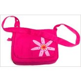 Zondervan, Faithgirlz! Messenger Bag Bible Cover, Pink Flower, Medium