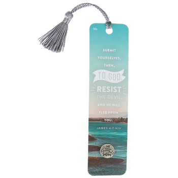 Soul Anchor, James 4:7 Lapel Pin with Bookmark, Paper and Metal, Gray, 6 inches