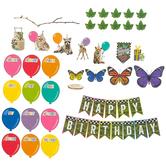 Schoolgirl Style, Woodland Whimsy Birthday Mini Bulletin Board Set, 37 Pieces