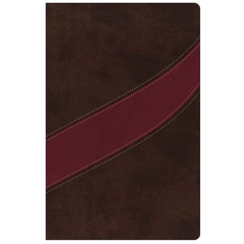 NASB MacArthur Study Bible, Imitation Leather, Cranberry and Earth Brown, Thumb Indexed