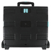 Mardel, Rolling Cart, Black and Turquoise, 16.5W x 14.9D x 16.1H Inches, 1 Each