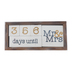 Collins Painting & Design, Mr and Mrs Countdown Calendar, Wood, 7 x 3 1/4 inches, 7 Pieces