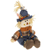 Scarecrow Sitter With Overalls, Denim & Plaid, 16 inches