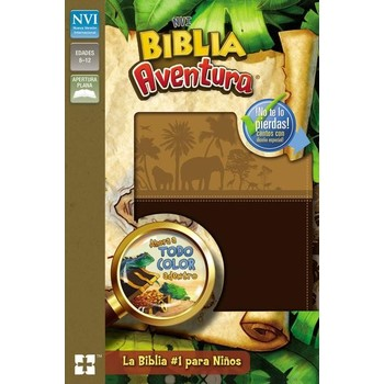 NVI Biblia Aventura Spanish Bible, Duo-Tone, Multiple Colors Available
