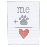 Open Road Brands, Me Plus Paw Print Tabletop Plaque, Wood, 3 x 4 inches