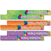 North Star Teacher Resources, Happy Birthday Arm Charms, .78 x 8.5 Inches, Assorted, Pack of 72