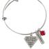 Bella Grace, Proverbs 31:10, Priceless, Wire Charm Bracelet, Zinc Alloy, Silver, 2 inch diameter
