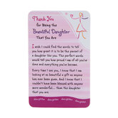 Blue Mountain Arts, Thank You Daughter Wallet Card, 2 x 3 1/4 inches
