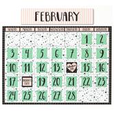 Eureka, Simply Sassy Calendar Bulletin Board Set, Turquoise & Pink, 83  Pieces