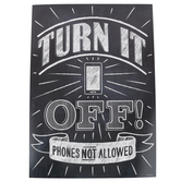 Renewing Minds, Turn It Off Cell Phone Motivational Poster, 13.25 x 19 Inches, 1 Piece