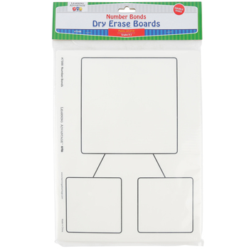 Learning Advantage, Number Bond Dry Erase Boards, Set of 10, 9 x 12-inches, Grades K-3