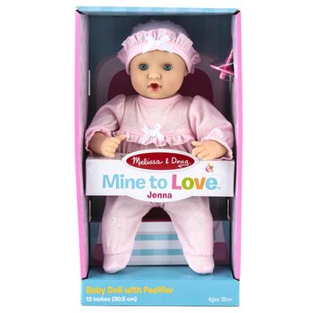 Melissa & Doug, Mine To Love Jenna Baby Doll, 12 inches, Ages 18 Months & Older