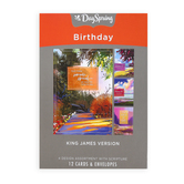 DaySpring, Colorful Landscapes Birthday Boxed Cards, 12 Cards with Envelopes