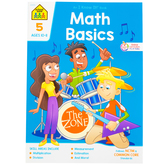 School Zone, Math Basics 5 Deluxe Edition Workbook, Paperback, 64 Pages, Grade 5