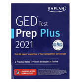 Kaplan Publishing, GED Test Prep Plus 2021 Book, with Online Access, Grades 10 and up