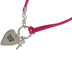 Glitter and Grace, Psalm 51:10 Create In Me A Pure Heart Charm Bracelet, Pink and Silver