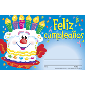 Trend, Feliz Cumpleanos Pastel (Spanish Happy Birthday Cake) Certificate