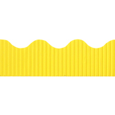 Renewing Minds, Corrugated Border Trim, Scalloped, 50 Feet, Yellow, 1 Each