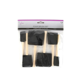 The Fine Touch, Foam Brush Set, Assorted Sizes, 6 Count