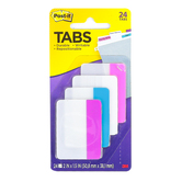 3M, Post-It Filing Tabs, 2 x 1 1/2 inches, 6 Each of 4 Designs