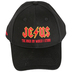Kerusso, Matthew 7:24-25 Jesus The Rock On Which I Stand Adjustable Cap, Black