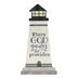 P. Graham Dunn, Where God Guides Lighthouse Tabletop Plaque, Pine Wood, 5 1/4 x 2 3/4 inches