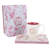 Christian Art Gifts, Mothers Prompted Journal and Coffee Mug Gift Set, 2 Pieces