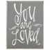 You Are Loved, Mini Wood Block, Gray, 4 x 3 x 1 1/2 inches