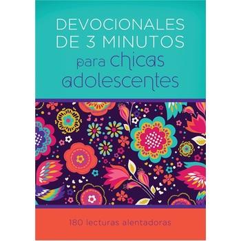 Devocional de 3 Minutos para Ninas Adolescentes: 180 Lecturas Alentadoras, by Barbour, Paperback