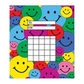 Teacher Created Resources, Happy Faces Incentive Charts, 5.25 x 6 Inches, Multi-Colored, 36 Sheets