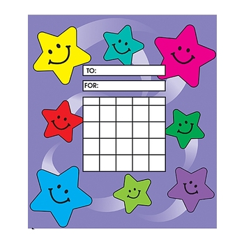 Teacher Created Resources, Happy Stars Incentive Charts, 5.25 x 6 inches, Multi-Colored, 36 Sheets